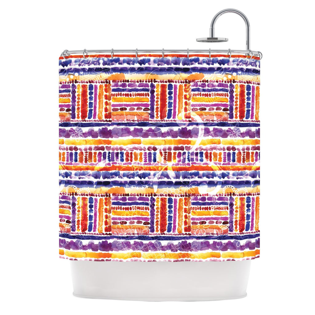 "Louise Machado ""Tribal"" Shower Curtain - KESS InHouse"