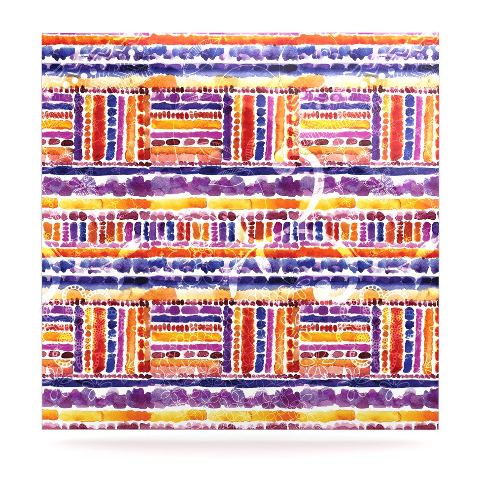 "Louise Machado ""Tribal"" Luxe Square Panel - KESS InHouse  - 1"