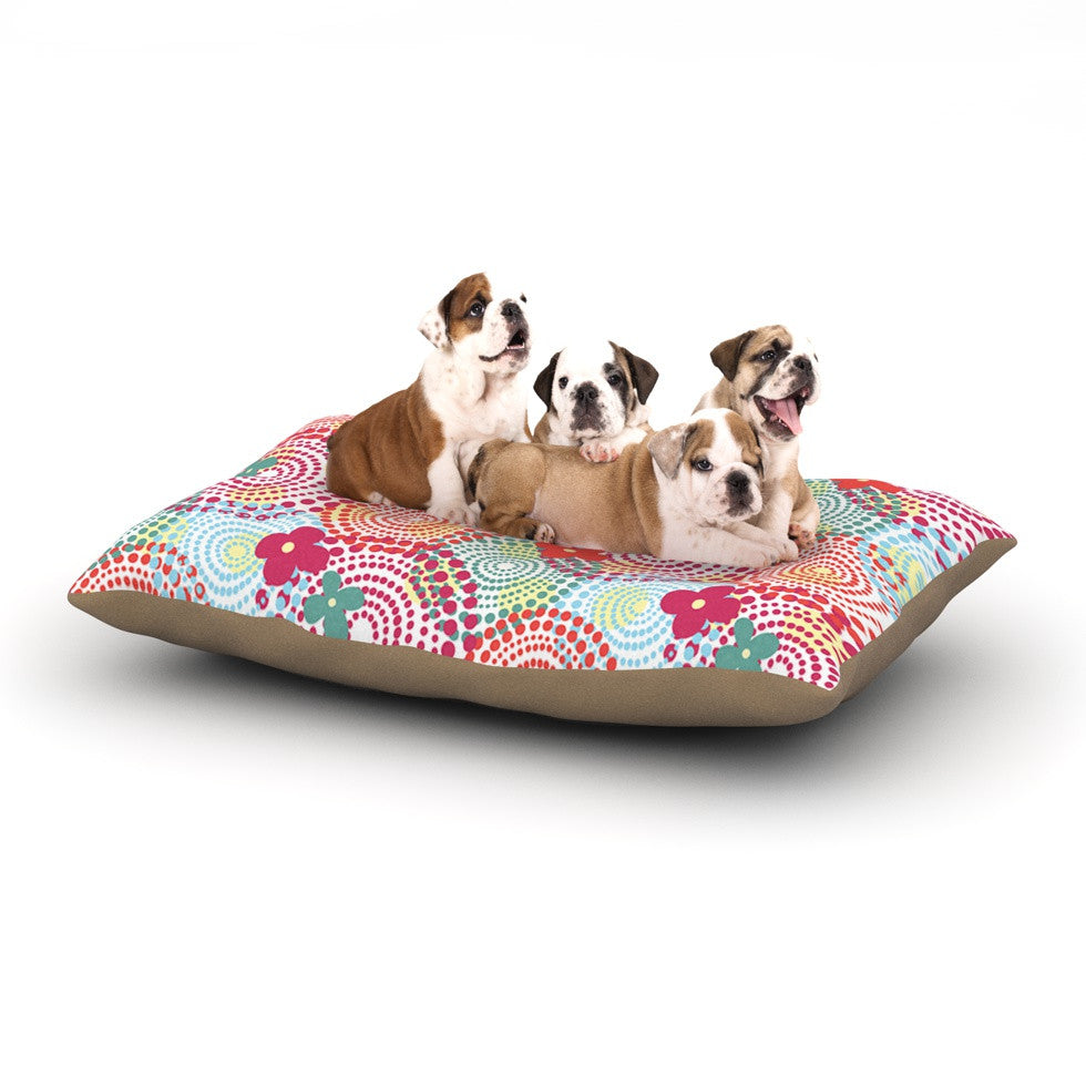 "Louise Machado ""Balls"" Red Blue Dog Bed - KESS InHouse  - 1"