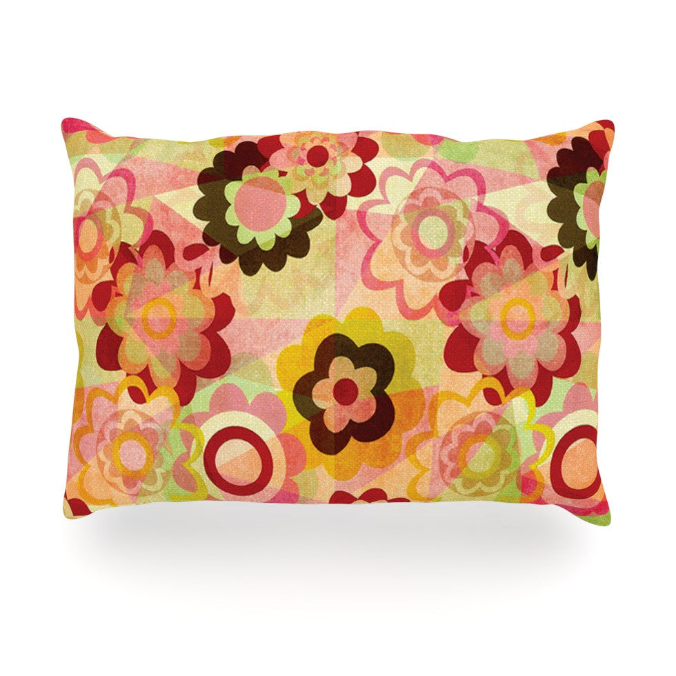 "Louise Machado ""Colorful Mix"" Red Orange Oblong Pillow - KESS InHouse"