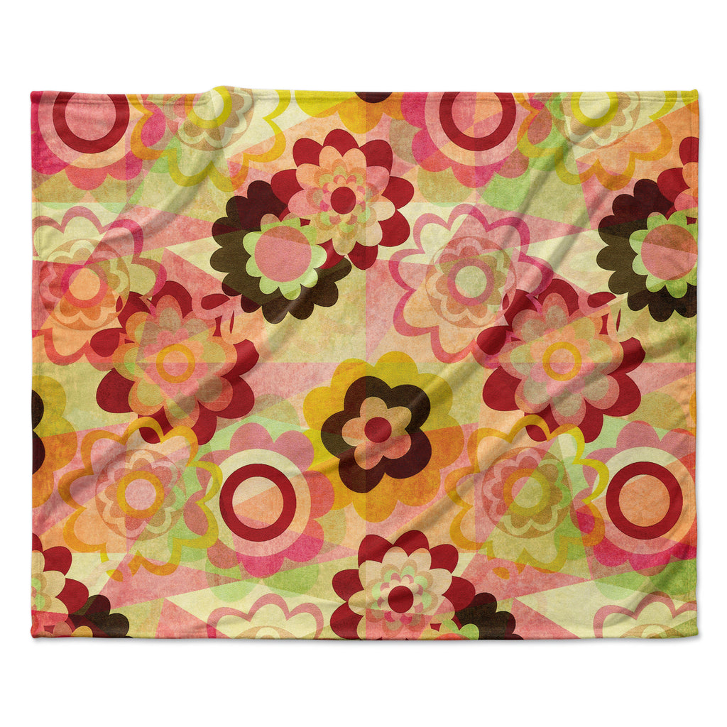 "Louise Machado ""Colorful Mix"" Red Orange Fleece Throw Blanket"