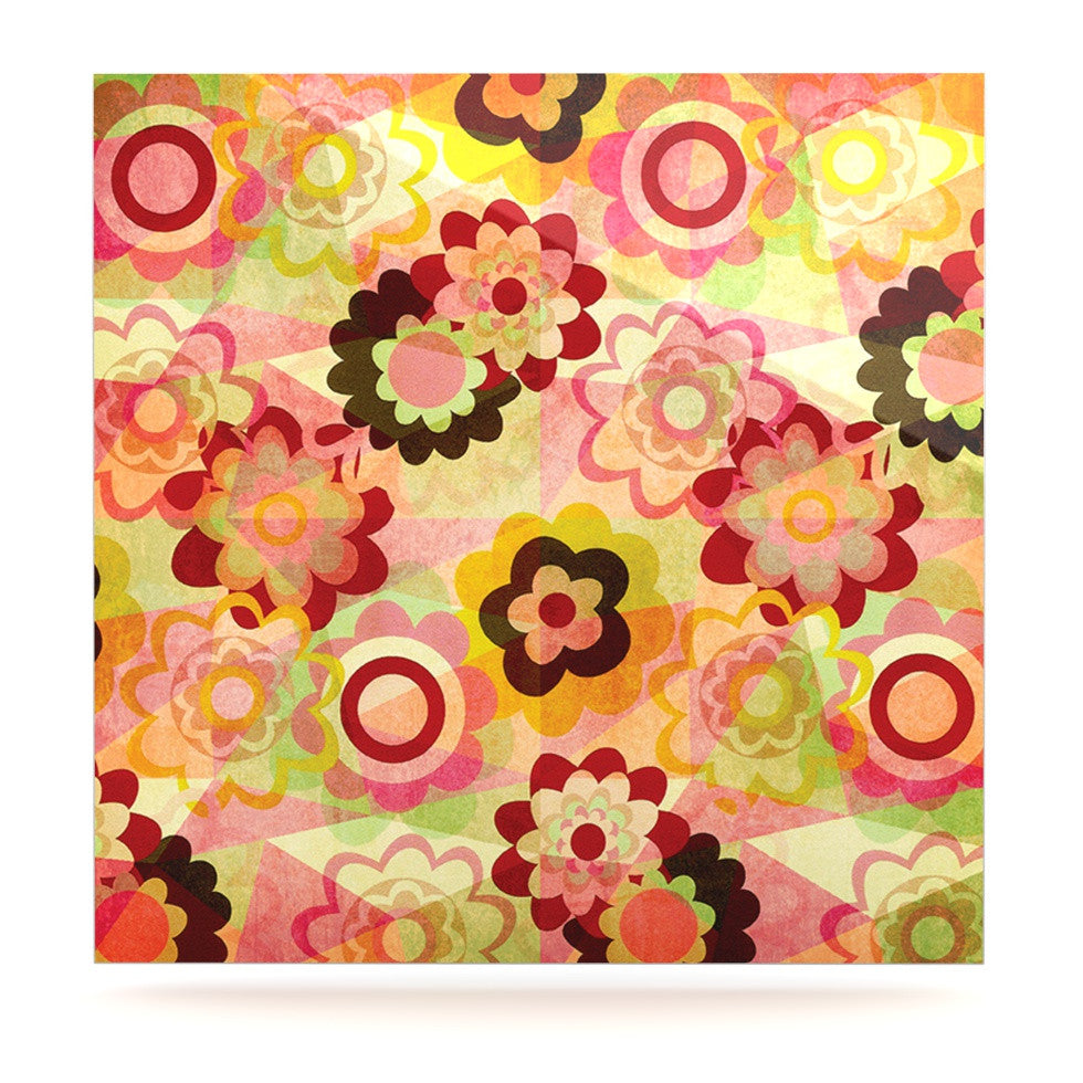 "Louise Machado ""Colorful Mix"" Red Orange Luxe Square Panel - KESS InHouse  - 1"
