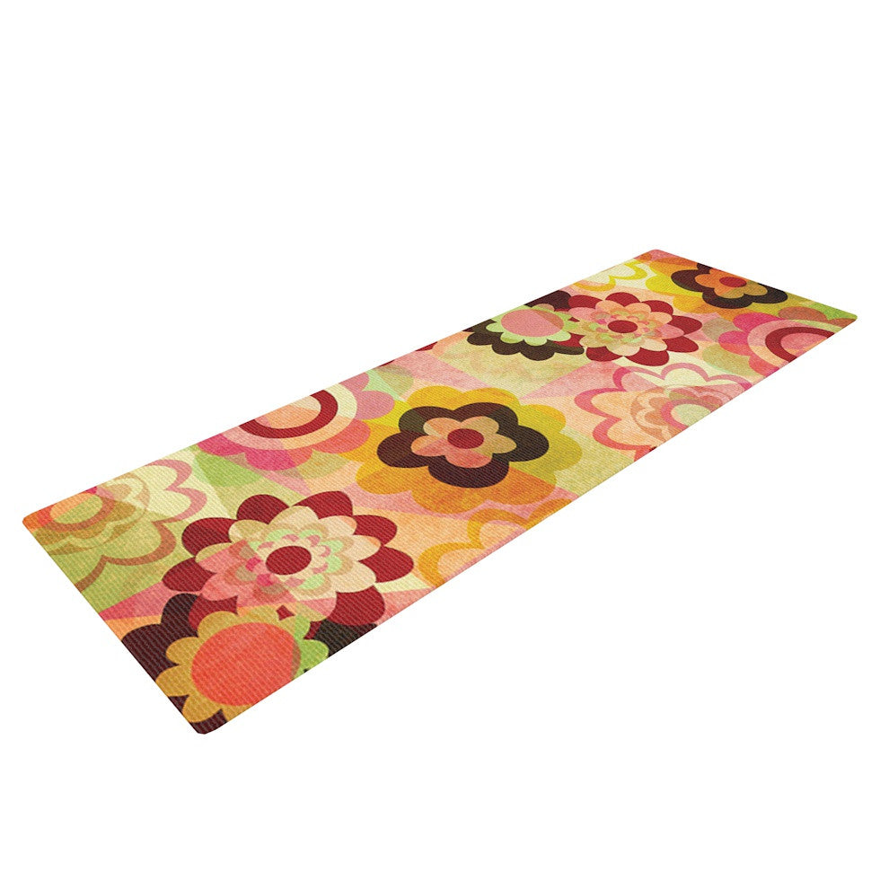 "Louise Machado ""Colorful Mix"" Red Orange Yoga Mat - KESS InHouse  - 1"