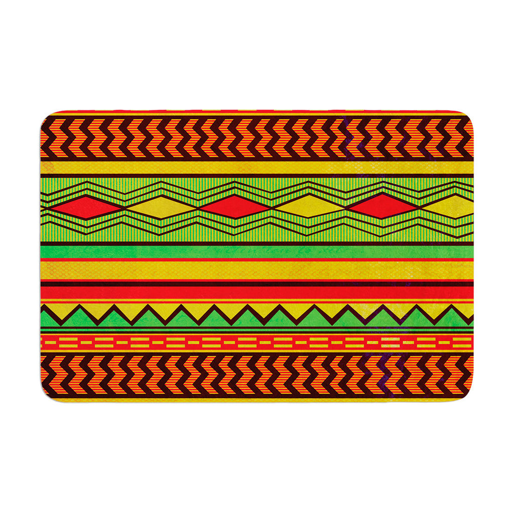 "Louise Machado ""Egyptian"" Red Orange Memory Foam Bath Mat - KESS InHouse"