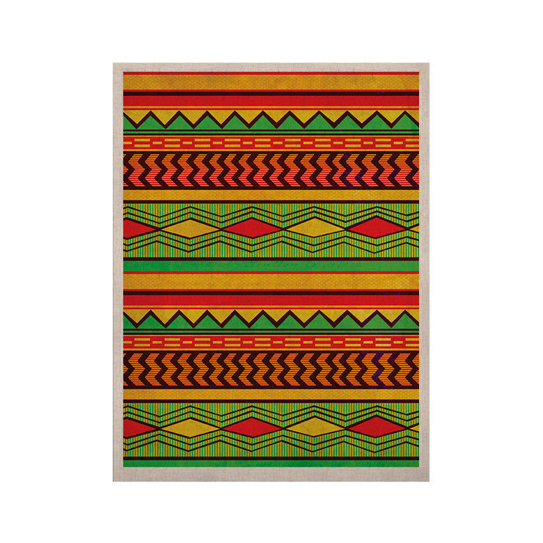 "Louise Machado ""Egyptian"" Red Orange KESS Naturals Canvas (Frame not Included) - KESS InHouse  - 1"