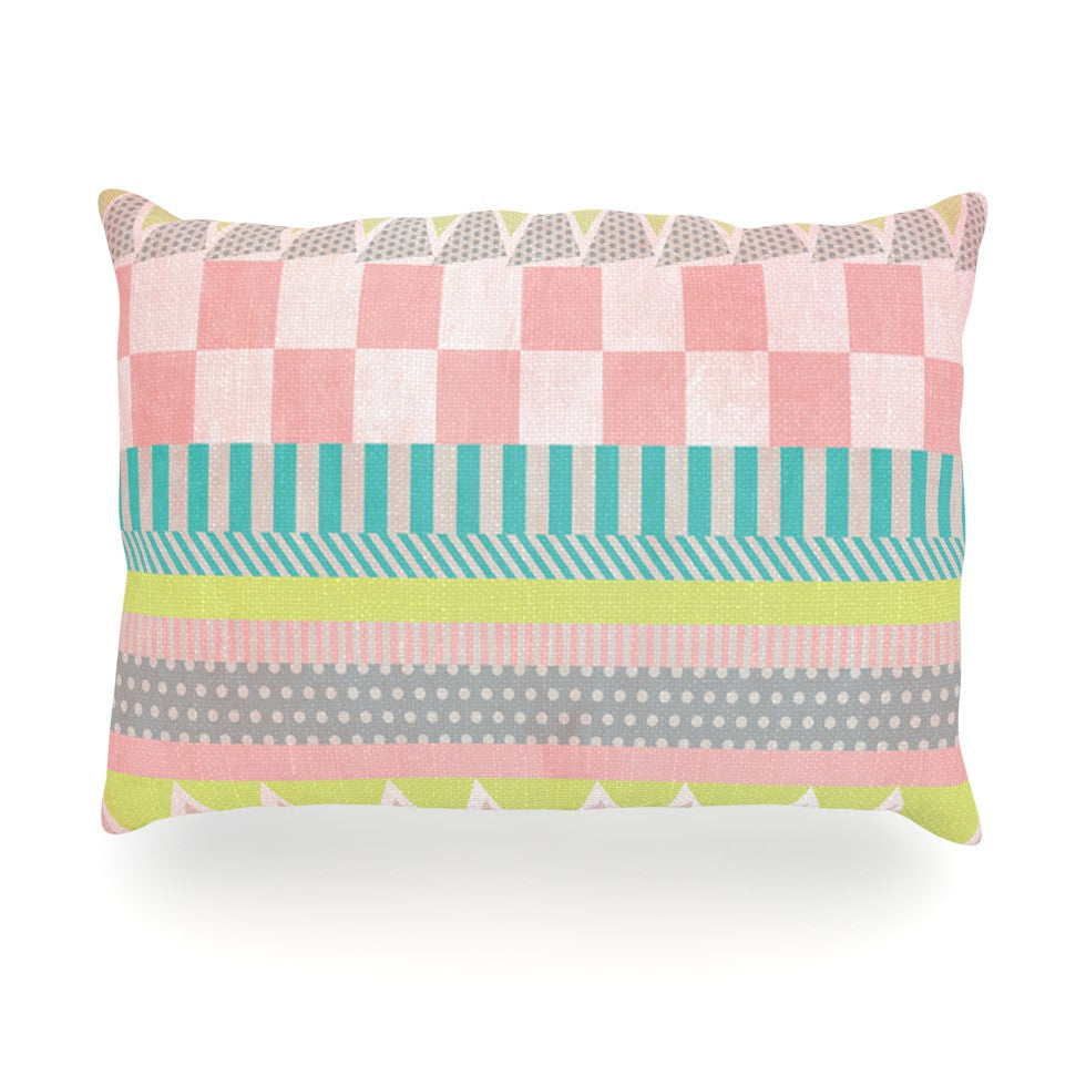 "Louise Machado ""Luna"" Pastel Pattern Oblong Pillow - KESS InHouse"