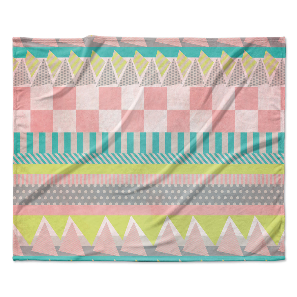 "Louise Machado ""Luna"" Pastel Pattern Fleece Throw Blanket"
