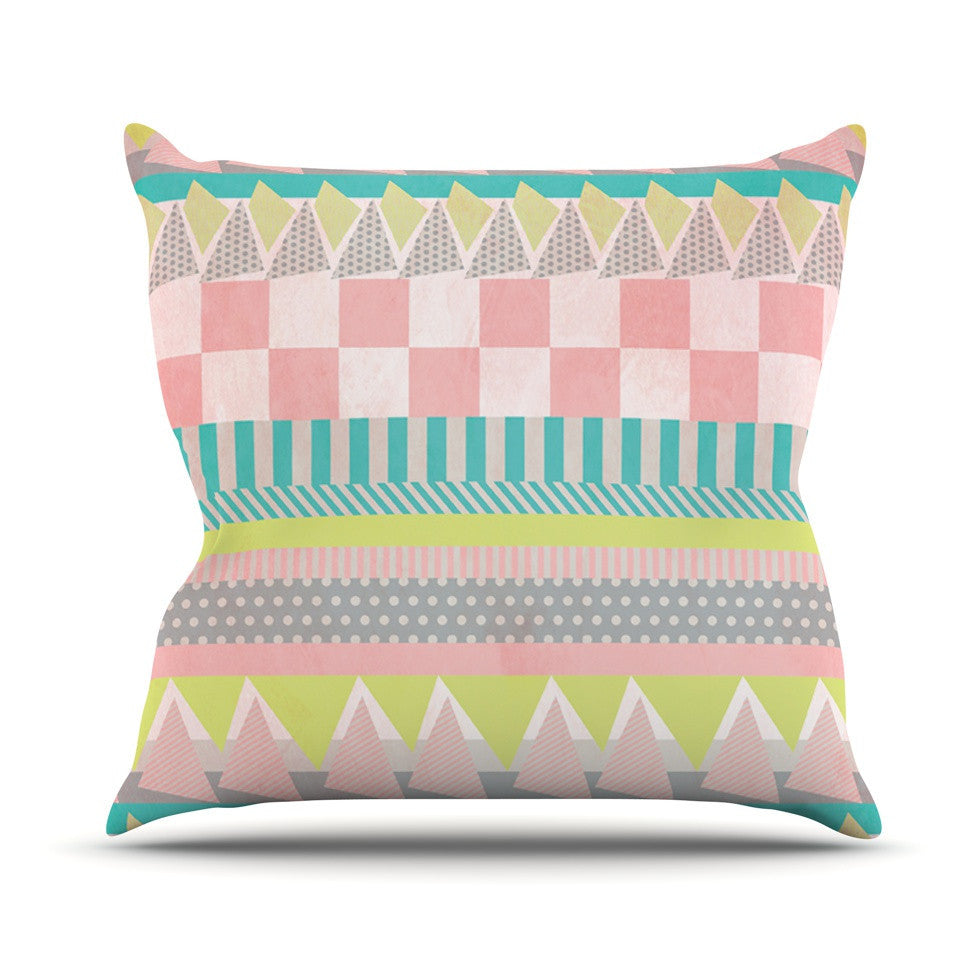 "Louise Machado ""Luna"" Pastel Pattern Outdoor Throw Pillow - KESS InHouse  - 1"