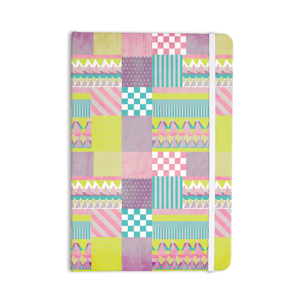 "Louise Machado ""Patchwork"" Purple Green Everything Notebook - KESS InHouse  - 1"