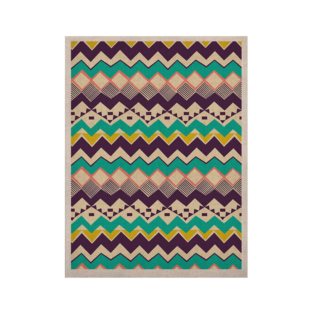 "Louise Machado ""Ethnic Color"" Teal Purple KESS Naturals Canvas (Frame not Included) - KESS InHouse  - 1"