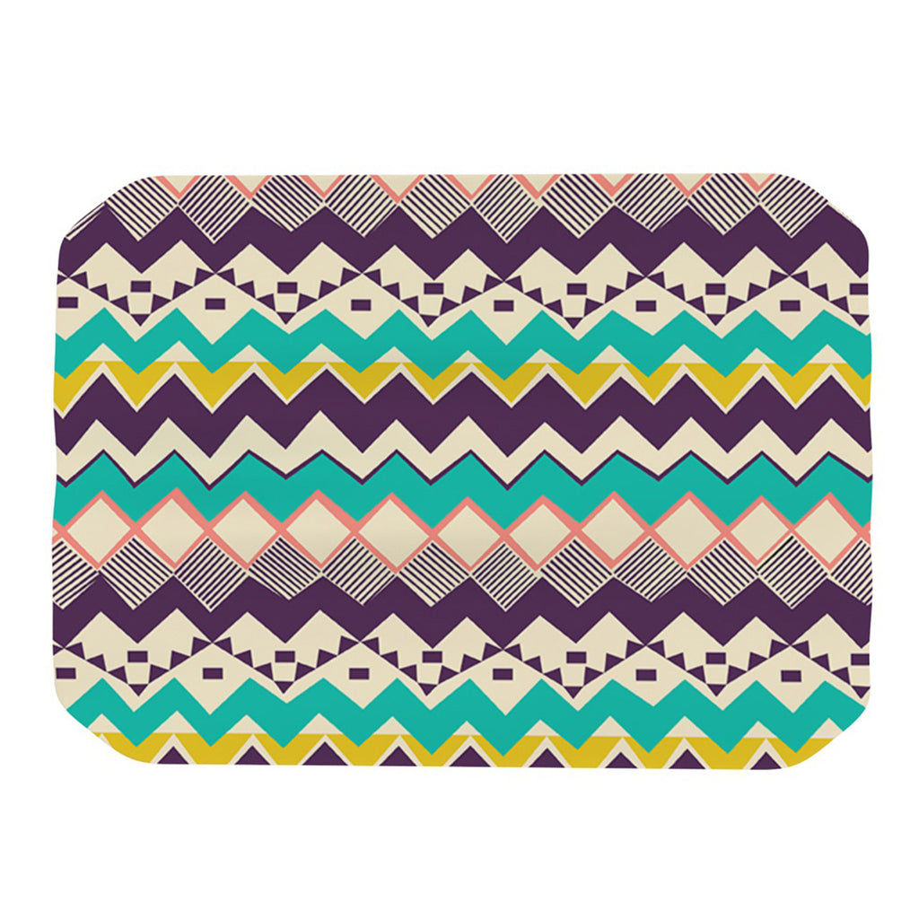 "Louise Machado ""Ethnic Color"" Teal Purple Place Mat - KESS InHouse"