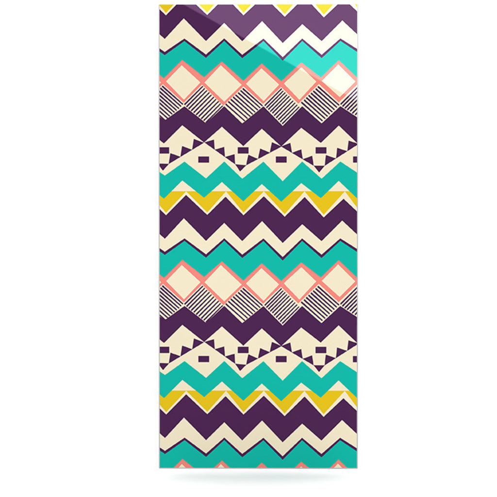 "Louise Machado ""Ethnic Color"" Teal Purple Luxe Rectangle Panel - KESS InHouse  - 1"
