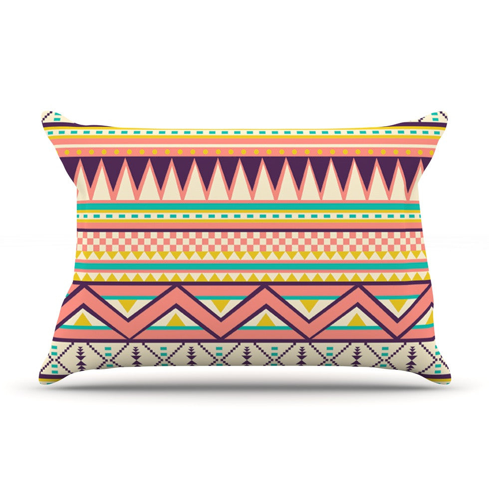 "Louise Machado ""Ethnic Love"" Tribal Geometric Pillow Sham - KESS InHouse"