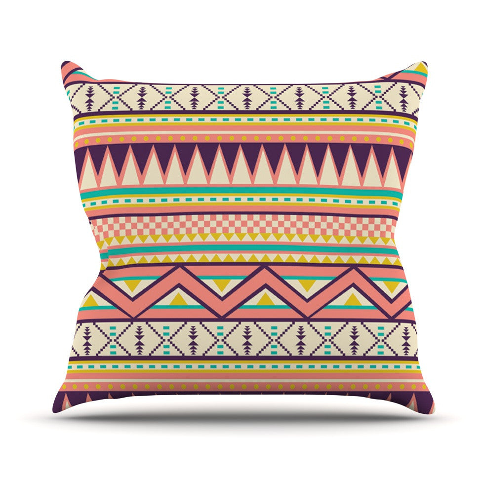 "Louise Machado ""Ethnic Love"" Tribal Geometric Throw Pillow - KESS InHouse  - 1"