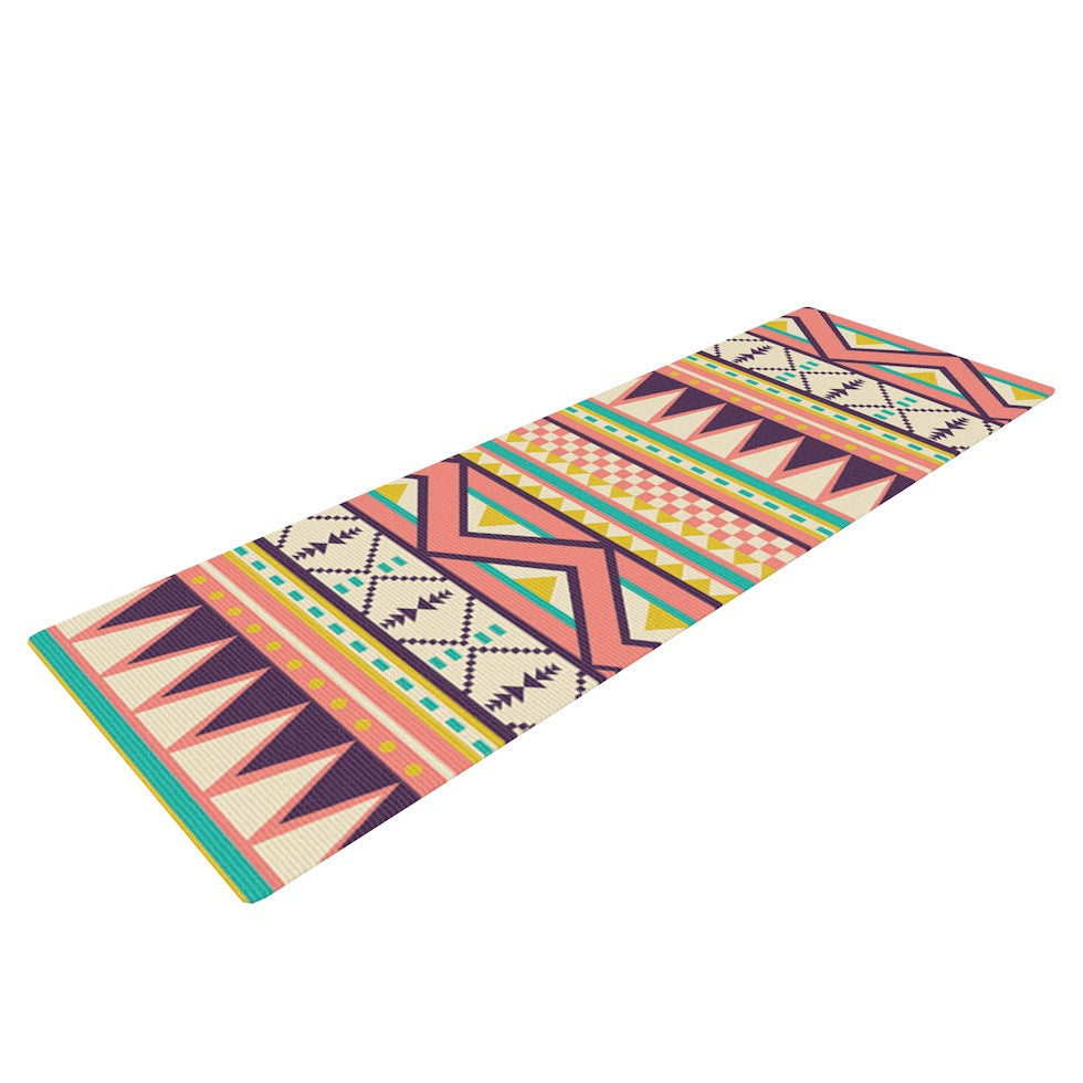 "Louise Machado ""Ethnic Love"" Tribal Geometric Yoga Mat - KESS InHouse  - 1"