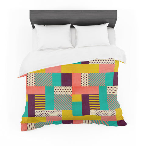 "Louise Machado ""Geometric Love"" Pattern Abstract Featherweight Duvet Cover - Outlet Item"
