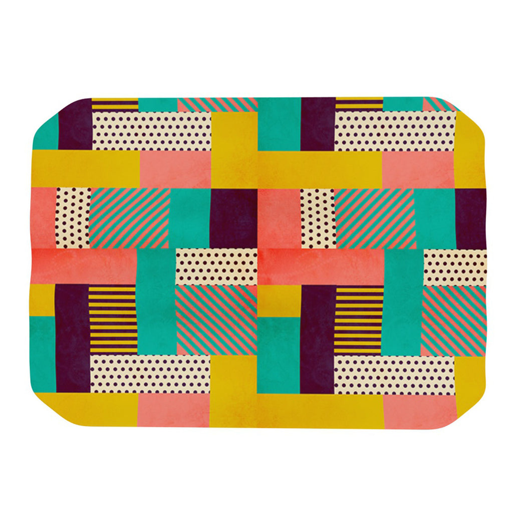 "Louise Machado ""Geometric Love"" Pattern Abstract Place Mat - KESS InHouse"
