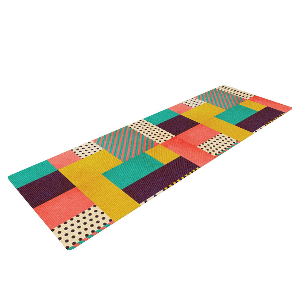 "Louise Machado ""Geometric Love"" Pattern Abstract Yoga Mat - KESS InHouse  - 1"