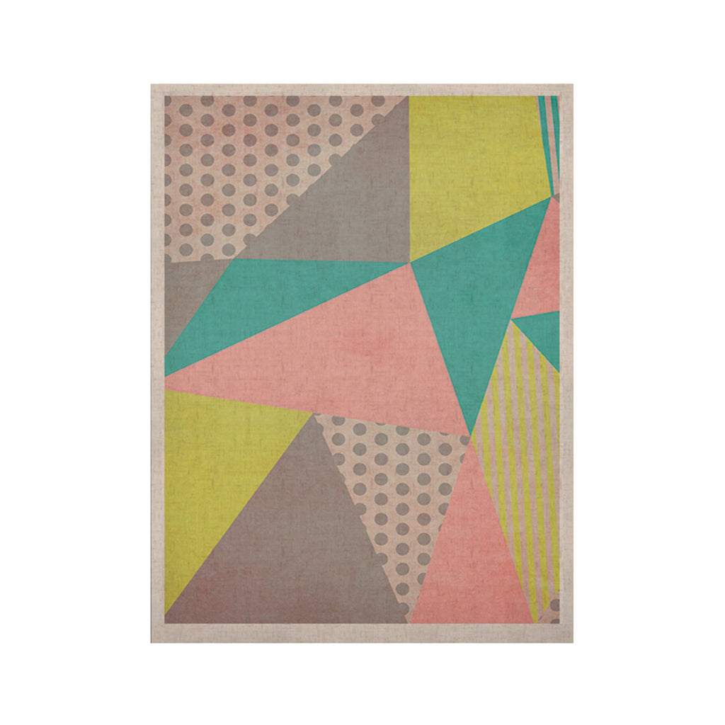 "Louise Machado ""Geometric Pastel"" KESS Naturals Canvas (Frame not Included) - KESS InHouse  - 1"