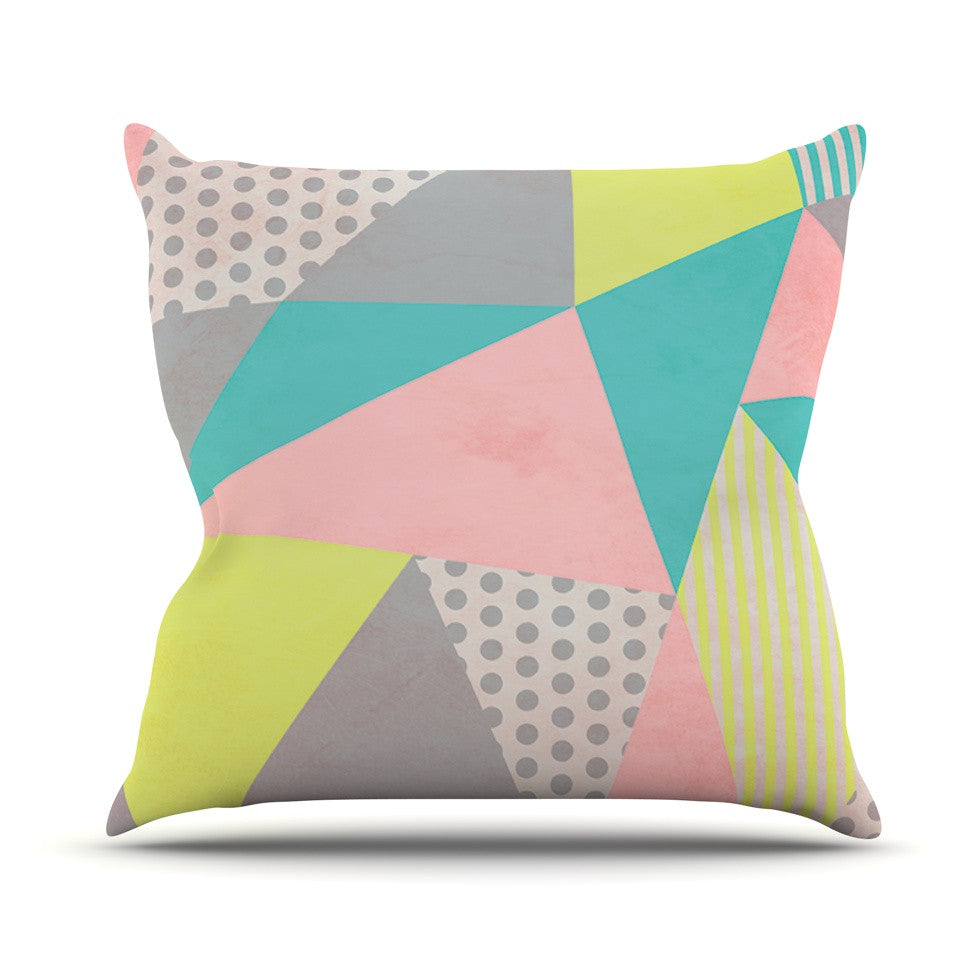 "Louise Machado ""Geometric Pastel"" Throw Pillow - KESS InHouse  - 1"