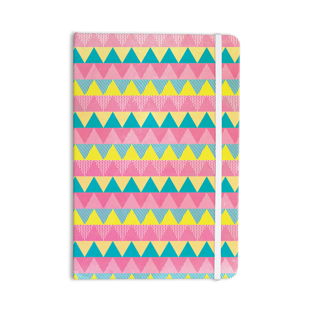 "Louise Machado ""Triangles"" Yellow Pink Everything Notebook - KESS InHouse  - 1"