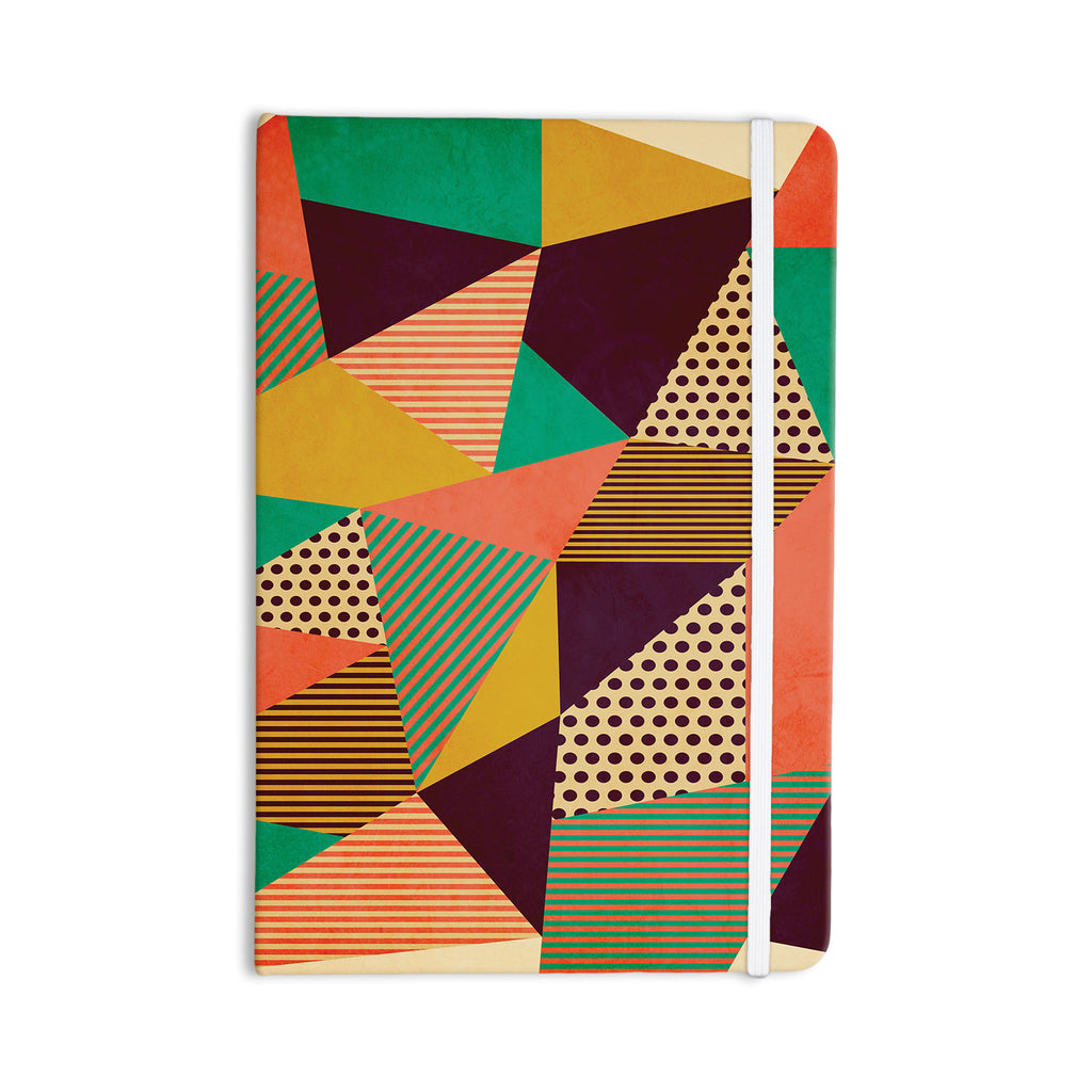 "Louise Machado ""Geometric Love II"" Orange Green Everything Notebook - KESS InHouse  - 1"