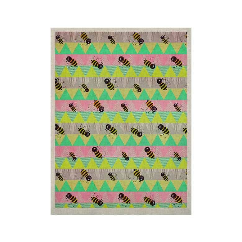 "Louise Machado ""Little Bee"" Pastel Chevron KESS Naturals Canvas (Frame not Included) - KESS InHouse  - 1"