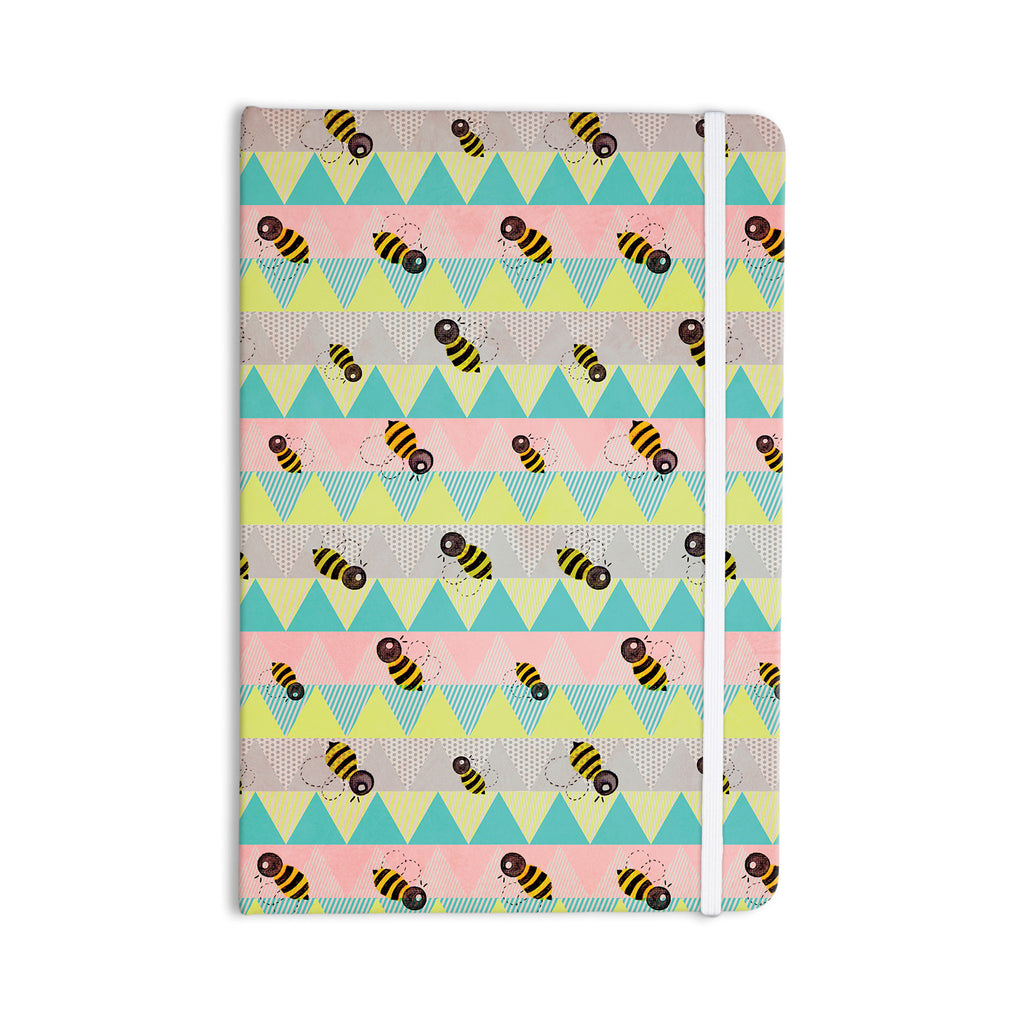"Louise Machado ""Little Bee"" Pastel Chevron Everything Notebook - KESS InHouse  - 1"
