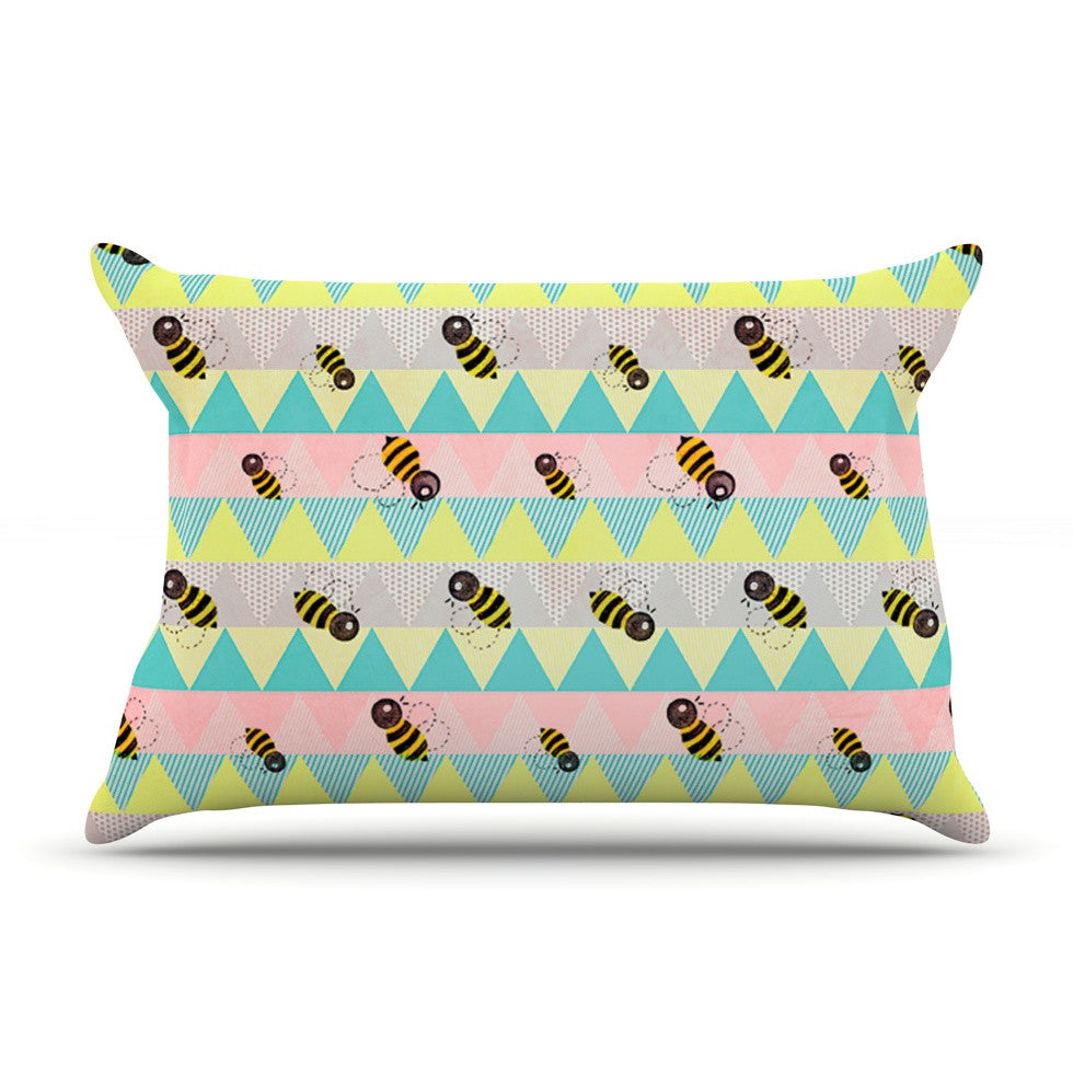 "Louise Machado ""Little Bee"" Pastel Chevron Pillow Sham - KESS InHouse"