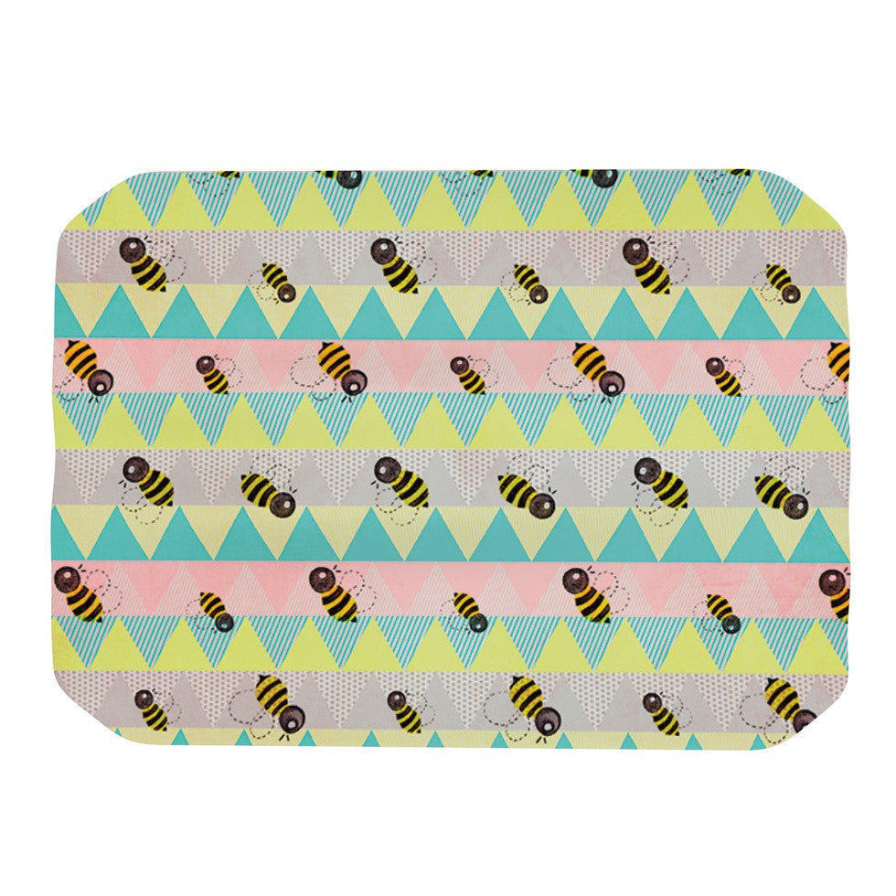 "Louise Machado ""Little Bee"" Pastel Chevron Place Mat - KESS InHouse"