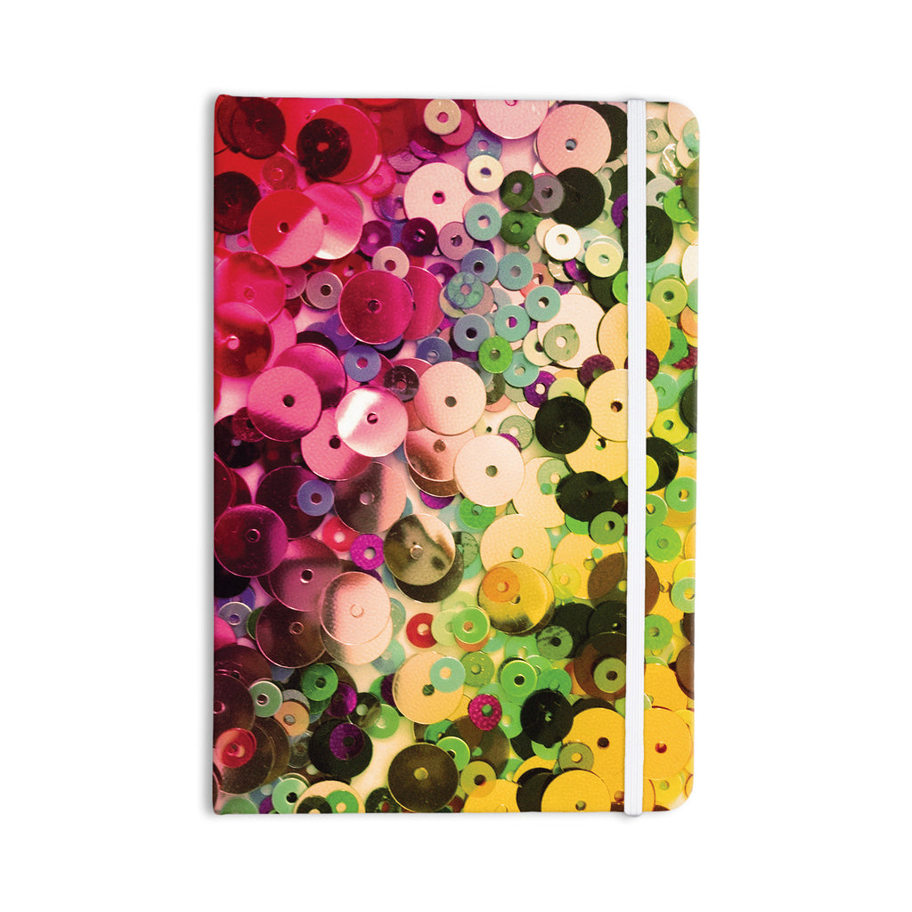 "Louise Machado ""Spots"" Multicolor Sparkle Everything Notebook - KESS InHouse  - 1"
