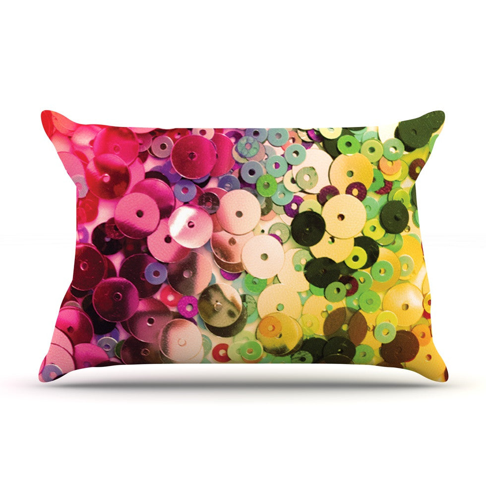 "Louise Machado ""Spots"" Multicolor Sparkle Pillow Sham - KESS InHouse"