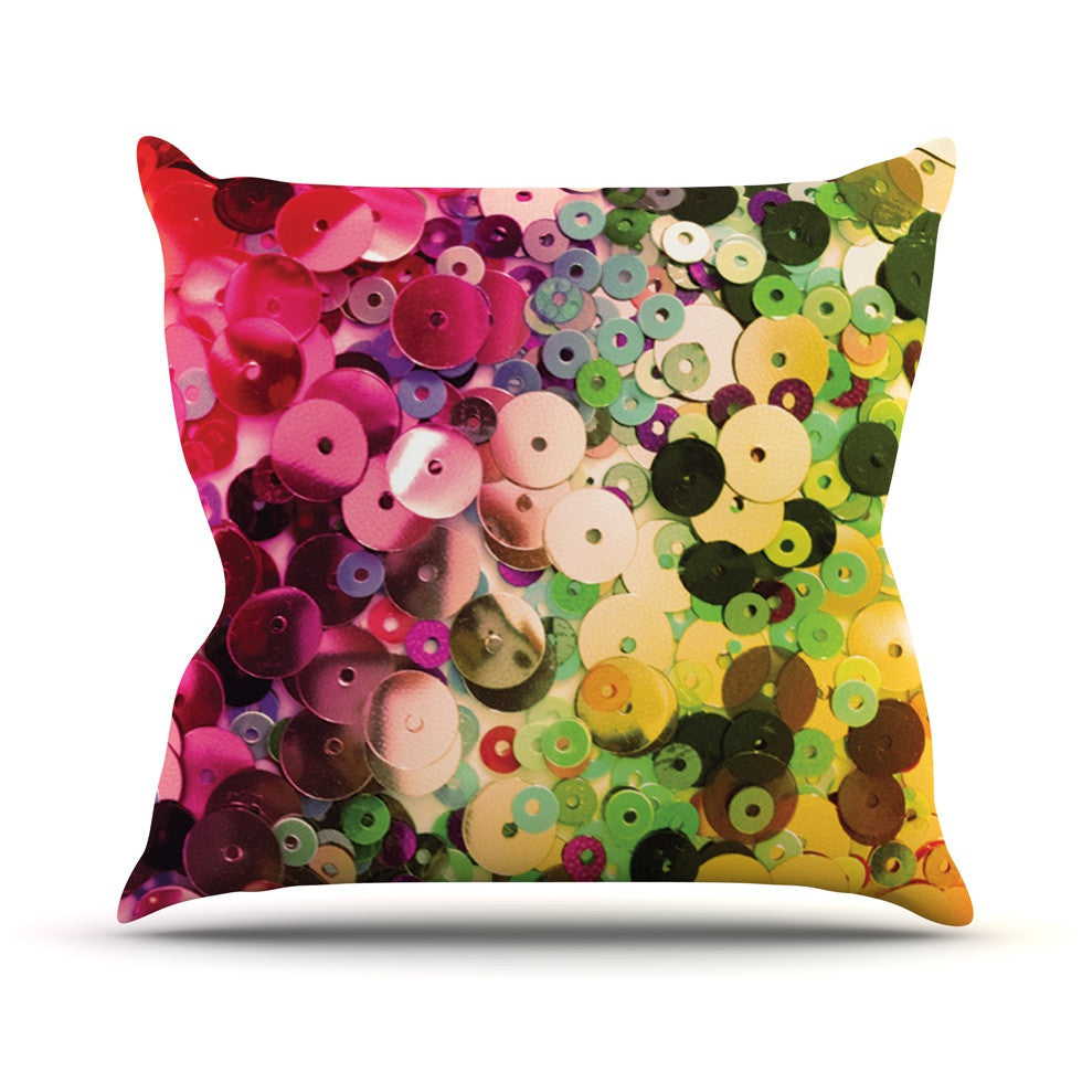 "Louise Machado ""Spots"" Multicolor Sparkle Outdoor Throw Pillow - KESS InHouse  - 1"