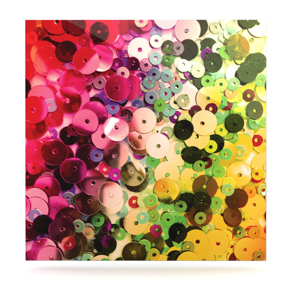 "Louise Machado ""Spots"" Multicolor Sparkle Luxe Square Panel - KESS InHouse  - 1"