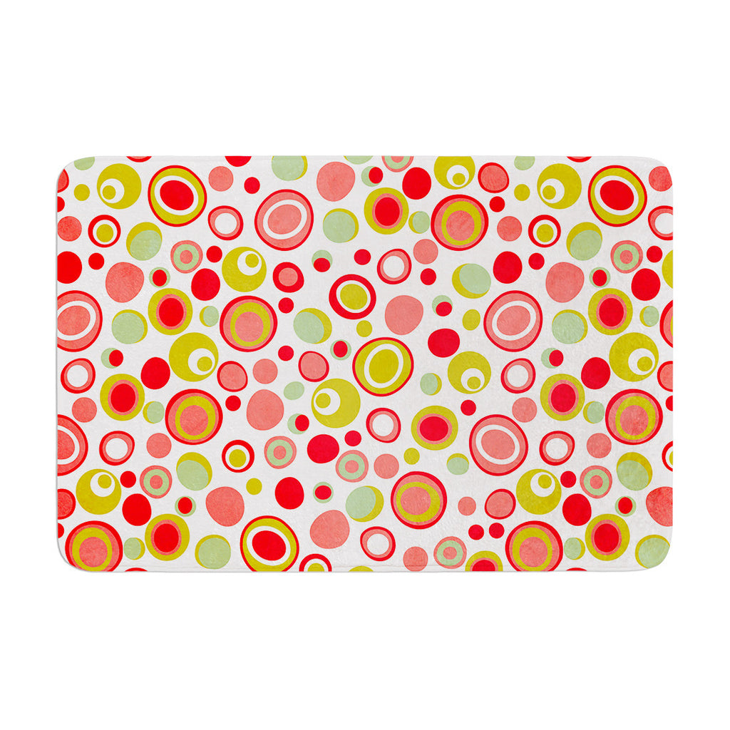 "Louise Machado ""Bubbles"" Warm Circles Memory Foam Bath Mat - KESS InHouse"