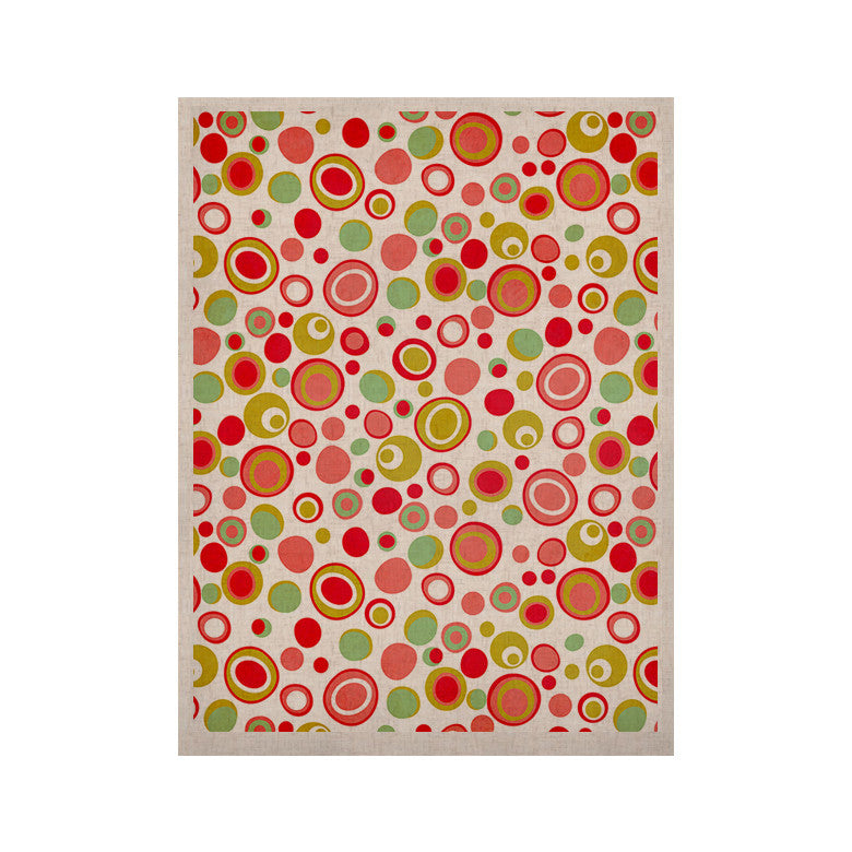 "Louise Machado ""Bubbles"" Warm Circles KESS Naturals Canvas (Frame not Included) - KESS InHouse  - 1"