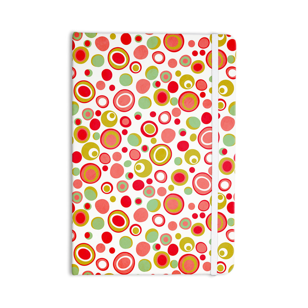 "Louise Machado ""Bubbles"" Warm Circles Everything Notebook - KESS InHouse  - 1"