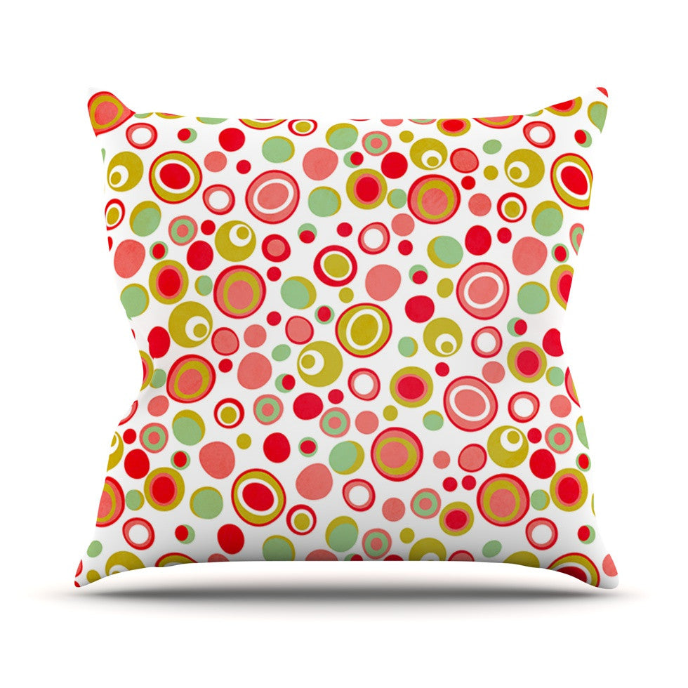 "Louise Machado ""Bubbles"" Warm Circles Outdoor Throw Pillow - KESS InHouse  - 1"