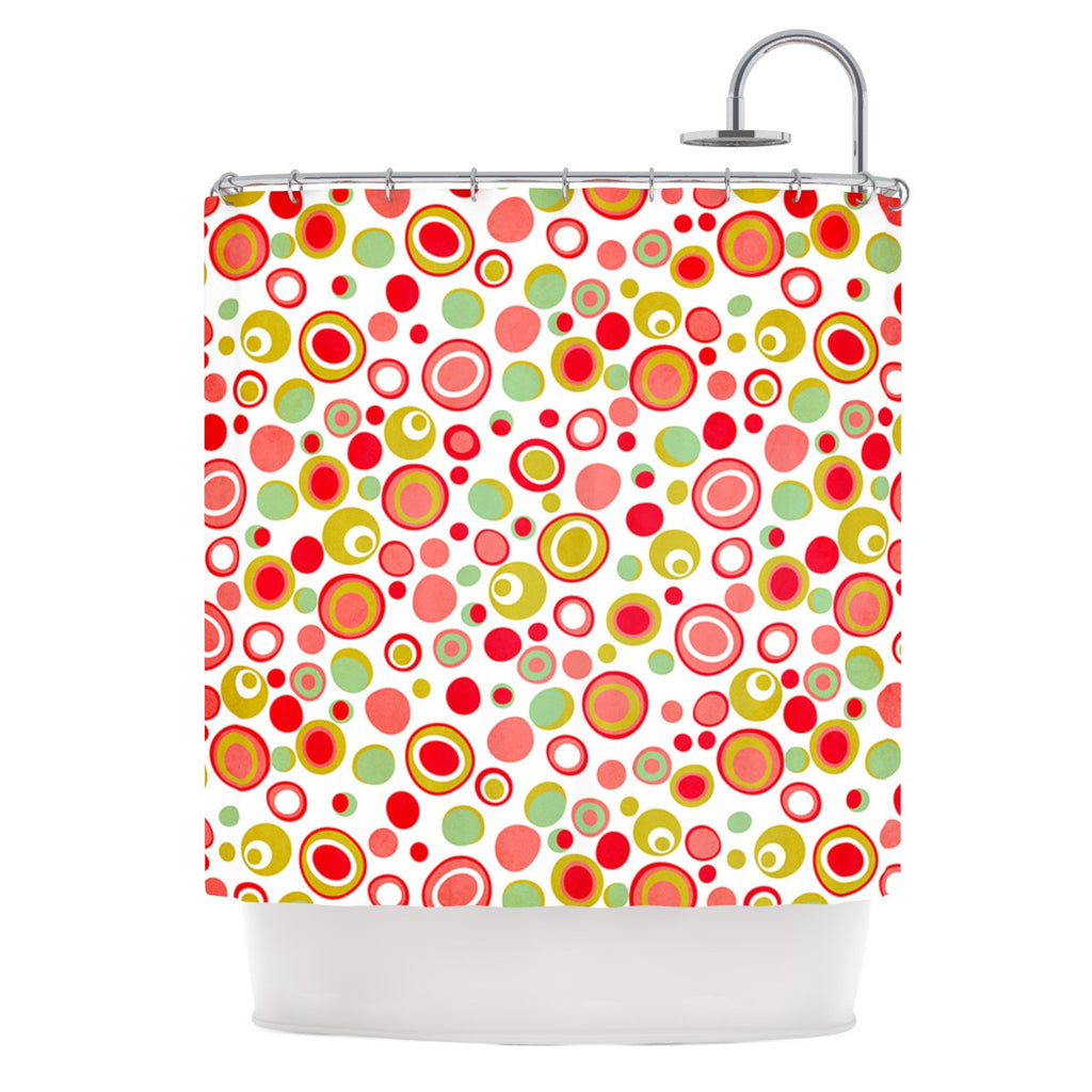 "Louise Machado ""Bubbles"" Warm Circles Shower Curtain - KESS InHouse"