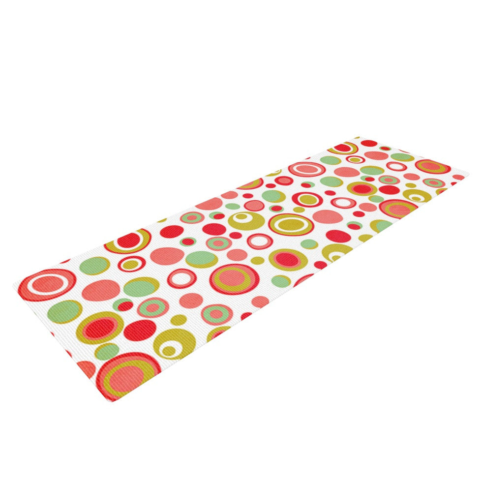 "Louise Machado ""Bubbles"" Warm Circles Yoga Mat - KESS InHouse  - 1"