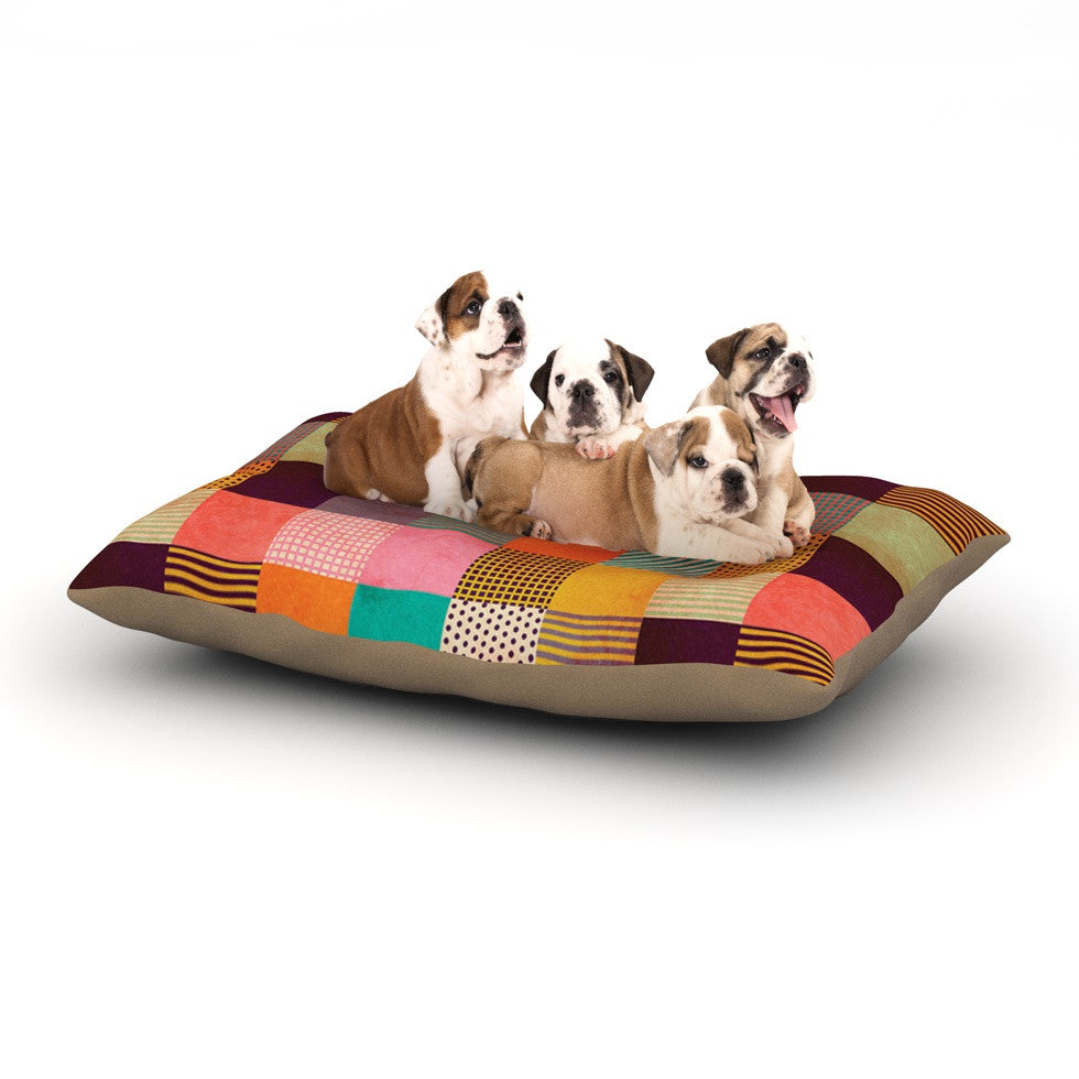 "Louise Machado ""Decorative Pixel"" Warm Patches Dog Bed - KESS InHouse"
