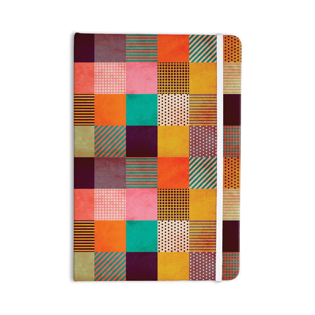 "Louise Machado ""Decorative Pixel"" Warm Patches Everything Notebook - KESS InHouse"