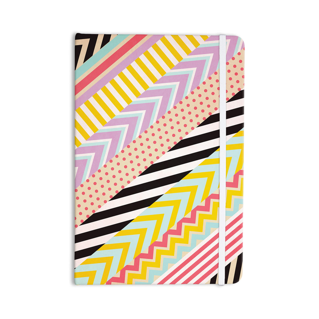 "Louise Machado ""Diagonal Tape"" Multicolor, Geometric Everything Notebook - KESS InHouse  - 1"
