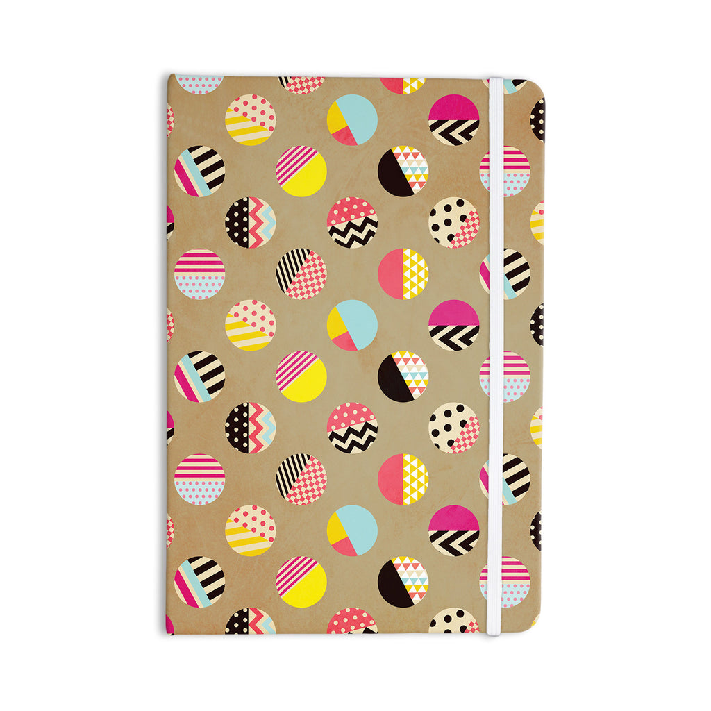 "Louise Machado ""Fun Circle"" Brown Geometric Everything Notebook - KESS InHouse  - 1"