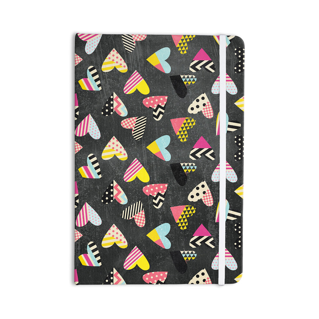 "Louise Machado ""Pieces of Heart"" Pink Yellow Everything Notebook - KESS InHouse  - 1"