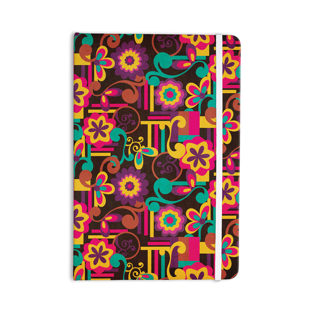 "Louise Machado ""Arabesque Floral"" Bright Colorful Everything Notebook - KESS InHouse  - 1"