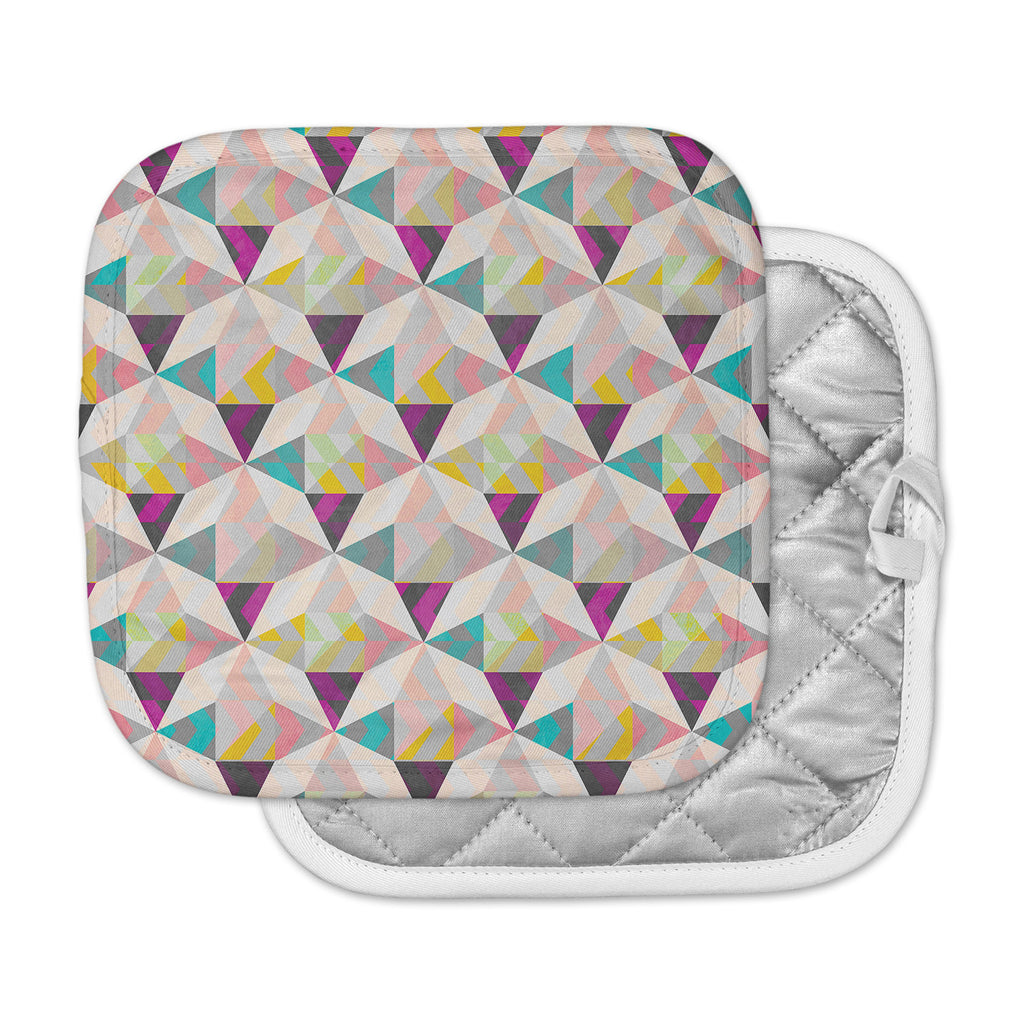 "Louise Machado ""True Diamonds"" Gray Pastel Pot Holder"