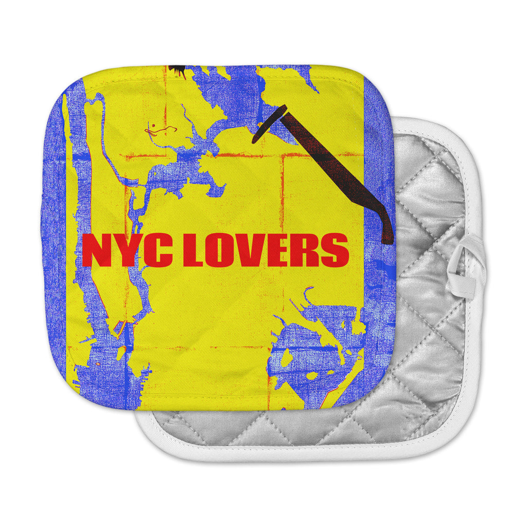 "Lazar Milanovic	 ""NYC Lovers "" Red Yellow Pot Holder"