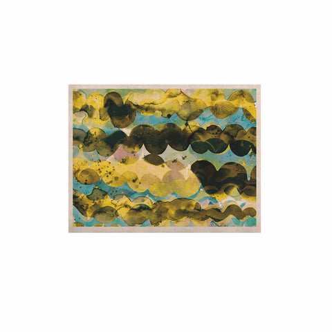 "Ninola Design ""Gold Turquoise Abstract Waves"" Gold Teal Abstract Modern Watercolor Illustration KESS Naturals Canvas (Frame not Included)"