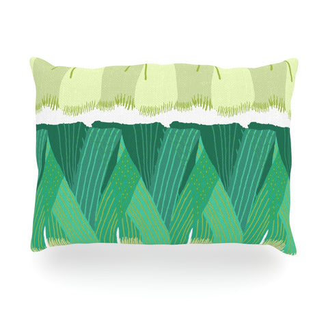 "Laura Nicholson ""Leeks"" Oblong Pillow - KESS InHouse"